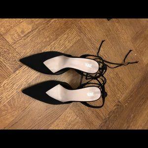 Zara tie up dress shoes black